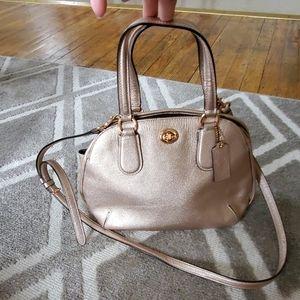 Rose Gold Coach Mini Bag